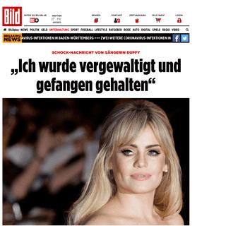 """Duffy- """"Ich wurde vergewaltigt, unter Drogen gesetzt, gefangen gehalten"""" - Leute - Bild.de"""