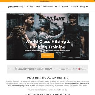 Driveline Baseball - Data-Driven Baseball Performance Training