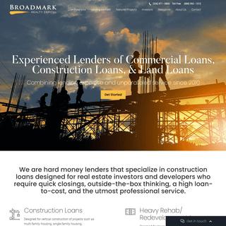 Broadmark Realty Capital Hard Money Lender - Commercial, Construction & Land Loans