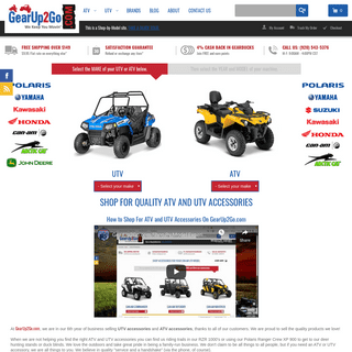 GearUp2Go - ATV - UTV Accessories - Polaris, Yamaha, Kawasaki, Honda +