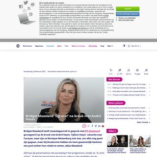 Bridget Maasland 'ligt eraf' na breuk met André Hazes - NU - Het laatste nieuws het eerst op NU.nl