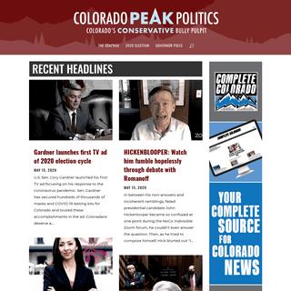 Colorado Peak Politics - Colorado's Conservative Bully Pulpit