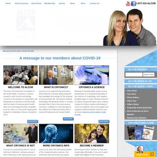 Cryonics- Alcor Life Extension Foundation