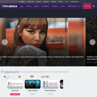 TV Azteca - TV En Vivo, Entretenimiento, Noticias y Deportes