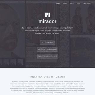 Mirador — Home
