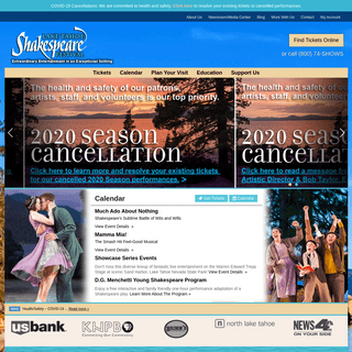 Lake Tahoe Shakespeare Festival - Extraordinary Entertainment in an Exceptional Setting