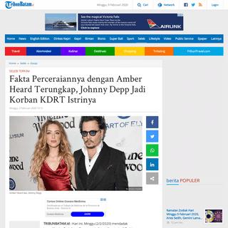 Fakta Perceraiannya dengan Amber Heard Terungkap, Johnny Depp Jadi Korban KDRT Istrinya - Tribun Batam