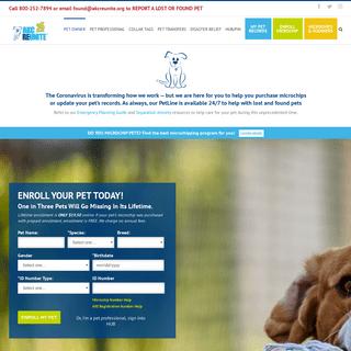 Lost Pet Recovery Service - Pet Microchips - AKC Reunite
