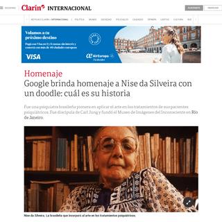 Google brinda homenaje a Nise da Silveira con un doodle- cuál es su historia - Clarín