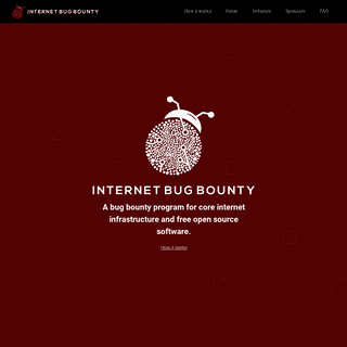 The Internet Bug Bounty - Rewarding friendly hackers who contribute to a more secure internet