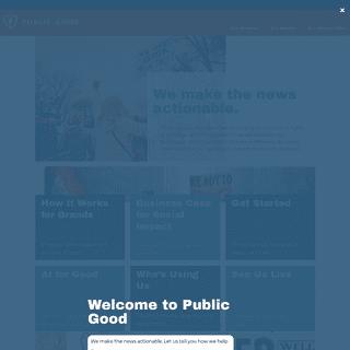 Public Good Software