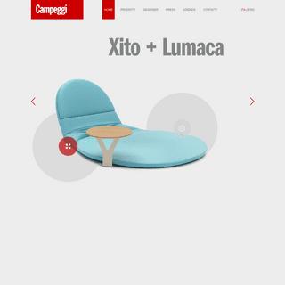 Divani e divani letto Campeggi - Design made in Italy
