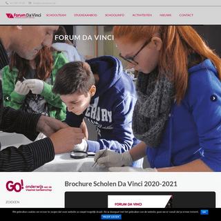 FORUM DA VINCI – Samen bouwen we aan de toekomst van uw kind!