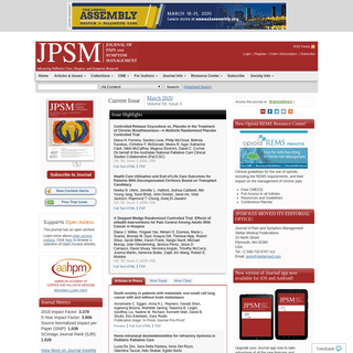Home Page- Journal of Pain and Symptom Management