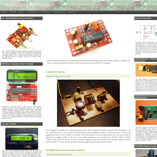 Electronics DIY - Quality Electronic Kits, Electronic Projects, Electronic Schematics, FM Transmitters, TV Transmitters, Stereo