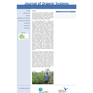 JOS - Journal of Organic Systems