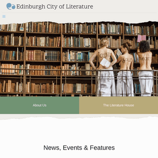 Edinburgh City of Literature Trust – Home of Words, Books, Ideas