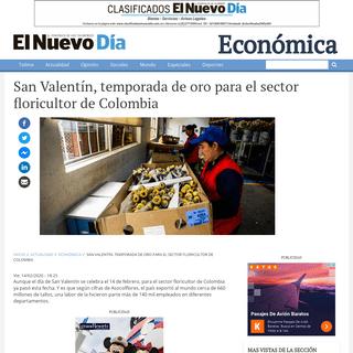 San Valentín, temporada de oro para el sector floricultor de Colombia - El Nuevo Día