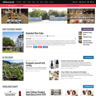 wine.co.za - virtual home of South African wine