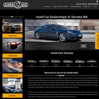 Used Car Dealership Tacoma WA - Used Cars In Tacoma Washington - Cars R Us