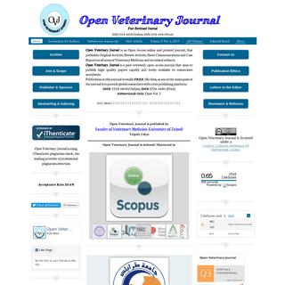 Open veterinary journal