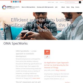 OMA SpecWorks - OMA SpecWorks