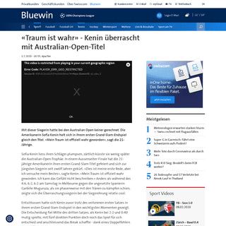 ArchiveBay.com - www.bluewin.ch/de/sport/tennis/traum-ist-wahr-kenin-ueberrascht-mit-australian-open-titel-352844.html - «Dies ist meine erste Rede, aber ich versuche mein Bestes»