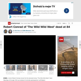 Robert Conrad of 'The Wild Wild West' dead at 84 - CNN