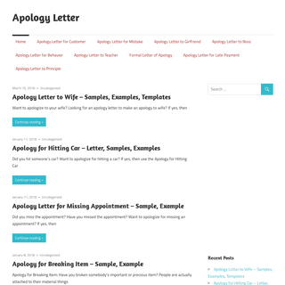 Apology Letter – Get Apology Letters for free in word (.doc)