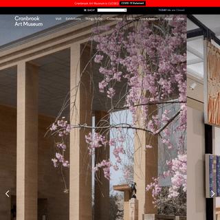 Modern Art in Bloomfield Hills - Cranbrook Art Museum