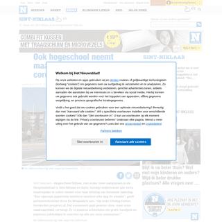 Ook hogeschool neemt maatregelen tegen coronavirus (Sint-Niklaas) - Het Nieuwsblad