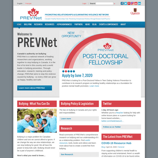 PREVNet - Canada's authority on bullying prevention - Research and Resources
