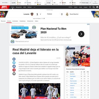 ArchiveBay.com - espndeportes.espn.com/futbol/reporte?juegoId=550370 - Levante vs. Real Madrid - Reporte del Partido - 22 febrero, 2020 - ESPN