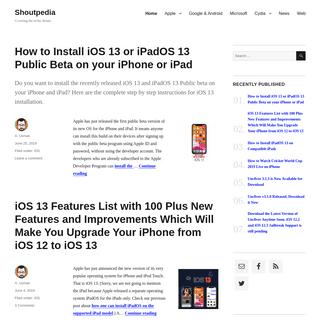 Shoutpedia - A Pedia of Tech Shouts from Apple, Google, Microsoft and Web