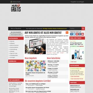 Nur.Gratis- Kostenlose Dinge aus dem Web mit Mehrwert + Gutscheine
