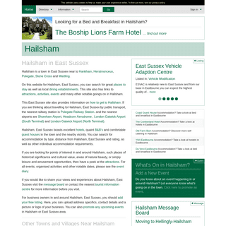 Hailsham in East Sussex - Town Guide
