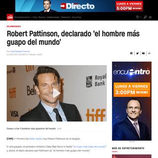 Robert Pattinson, declarado 'el hombre más guapo del mundo' - CNN