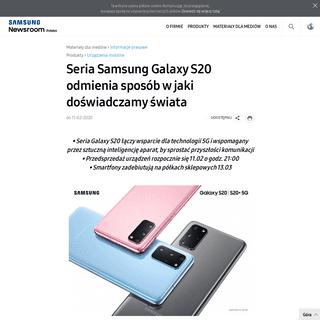 Seria Samsung Galaxy S20 odmienia sposób w jaki doświadczamy świata – Samsung Newsroom Polska