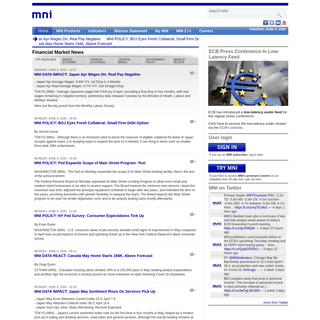 Financial Market News, Foreign Exchange Markets (Real-Time) - MNI