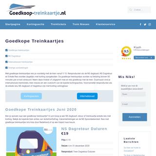 Goedkope treinkaartjes v.a. €8 » Juni 2020 » Goedkoop treinkaartje
