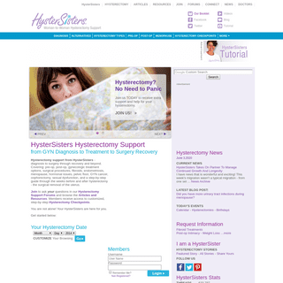 Hysterectomy Support Forum - Hysterectomy Support Group