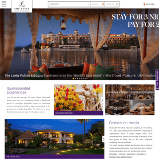 5 Star Hotels in India - Luxury Business & Leisure Hotels- The Leela Palaces, Hotels & Resorts