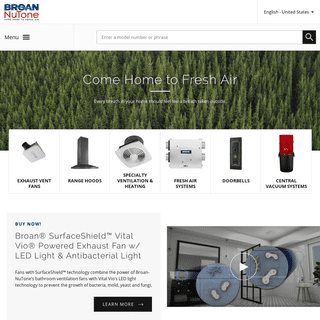 Broan-NuTone - Residential exhaust ventilation and air quality products