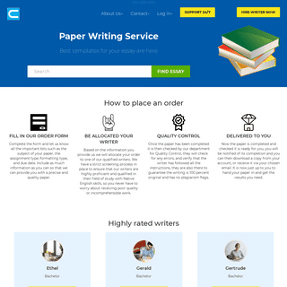 Paper Writing Service - Templates, Samples and Topics for Essays