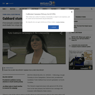 ArchiveBay.com - www.wsav.com/news/your-local-election-hq/tulsi-gabbard-stumps-for-votes-in-the-lowcountry/ - Gabbard stumps for votes in the Lowcountry - WSAV-TV