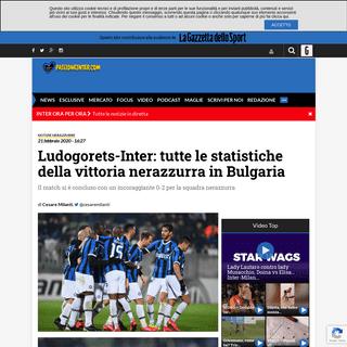 Ludogorets-Inter- tutte le statistiche della vittoria in Bulgaria