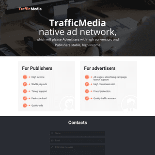 ArchiveBay.com - traffic-media.co.uk - TrafficMedia - native ad network, which will please Advertisers with high conversion, and Publishers stable, high income