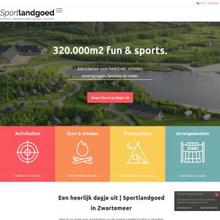 Sportlandgoed, Zwartemeer - Bijna alles is mogelijk!
