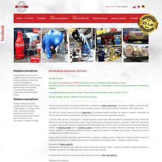 Makiety, obiekty, konstrukcje i figury reklamowe, reklama 3D zewnętrzna
