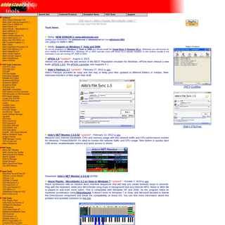 www.aldostools.org - Playstation Emulation Tools, Piano and Multimedia Software, Macro Recorder, Text-to-Speech, Memory Manager,